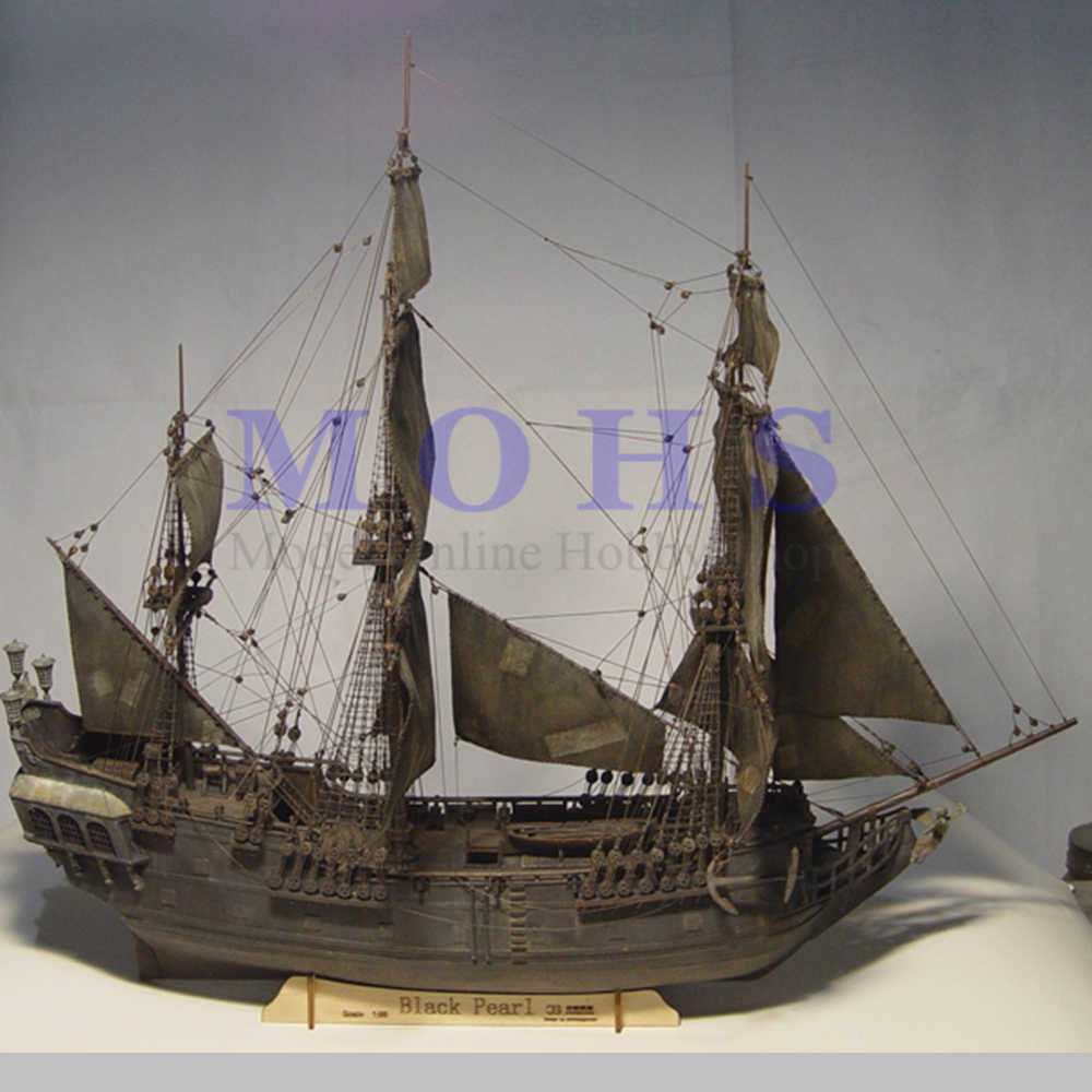 Wooden Scale Model Ship 196 Pirates Of The Caribbean Black Pearl