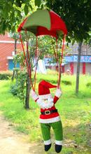 Cute Santa Claus Parachute Christmas Tree Hanging Ornaments Xmas Decoration Indoor and Outdoor decor