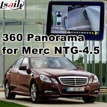 360 panorama & interface de visão traseira para Mercedes benz A B C E ML GLK NTG 4.5 LVDS de entrada de sinal RGB ligação espelho apoio