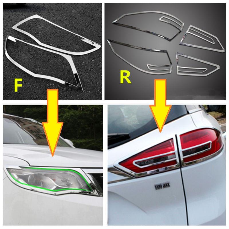 Geely Atlas,Boyue,NL3,Emgrand X7 EmgrarandX7 EX7 SUV,Car headlight chrome frame,rear light chrome frame