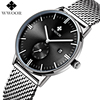 WWOOR Men Business Watch Top Brand Luxury Men S Watches Fashion Casual Luminous Stainless Steel Mesh