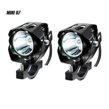 BOSMAA 2 шт. мини U7 125 Вт 12-85 в мотоцикл antinieble светодиодный фары 3000LM мотоцикл прожектор вождения Туман лампа пятно головного света