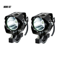 BOSMAA 2PCS Mini U7 125W 12 85V Motorcycle antinieble LED Headlight 3000LM Motorbike Spotlight Driving Fog Lamp Spot Head Light