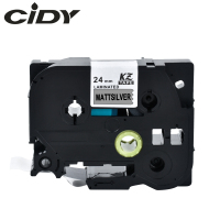 CIDY compatible tze-M951 TZE M951 TZ-M951 Tz M951 Black on Mattesilver 24mm label tape for brother label printer