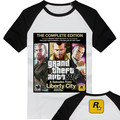 GTA Grand Theft Auto 3D XB * БЫК 5 Фантазии Мужчин Футболка с коротким Рукавом Уличный Стиль Высокое Качество Хлопка Несколько Стилей Человек Футболку