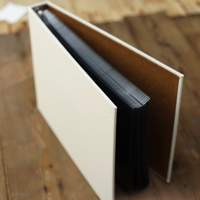 Hemp fabric Cloth Cover DIY handmade album inside pages with PP bags 8-inch creative personalised photo albums