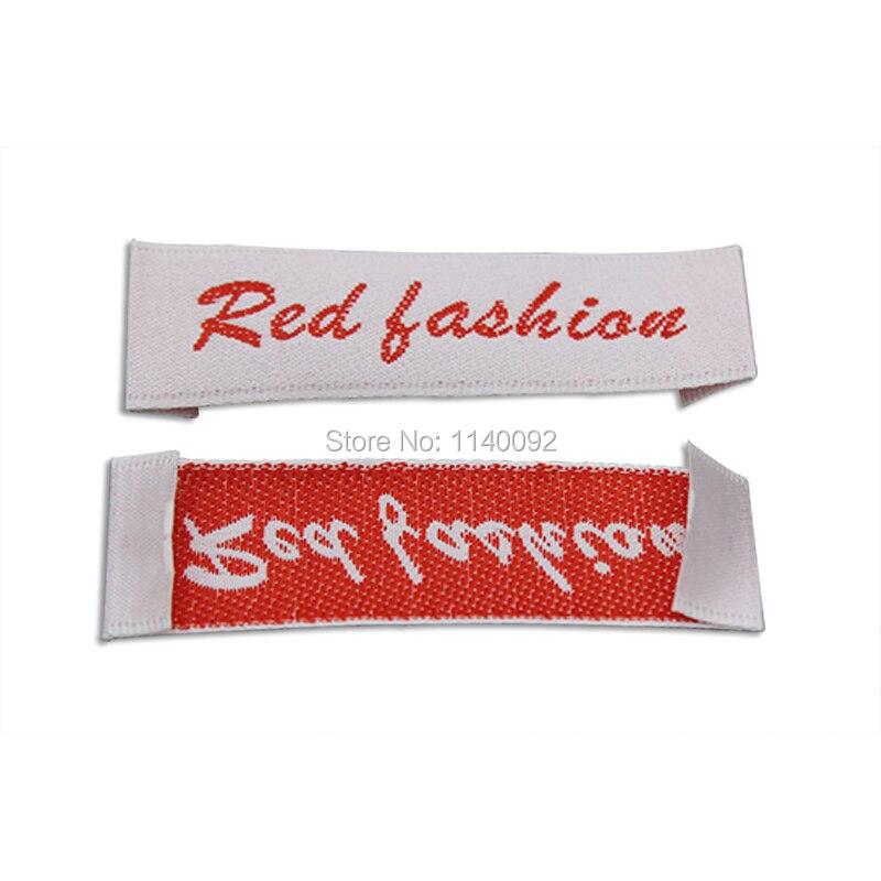 ᗗEnvío Gratis ropa personalizada etiqueta tejida Satén/etiquetas ...