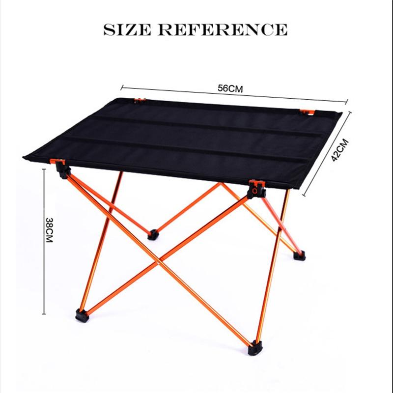 Mounchain Lightweight Portable Outdoor Aluminium Alloy Folding Desk Medium Gate-leg Table For Camping Hiking Picnic Campcookingsupplies Red With The Most Up-To-Date Equipment And Techniques Camping & Hiking