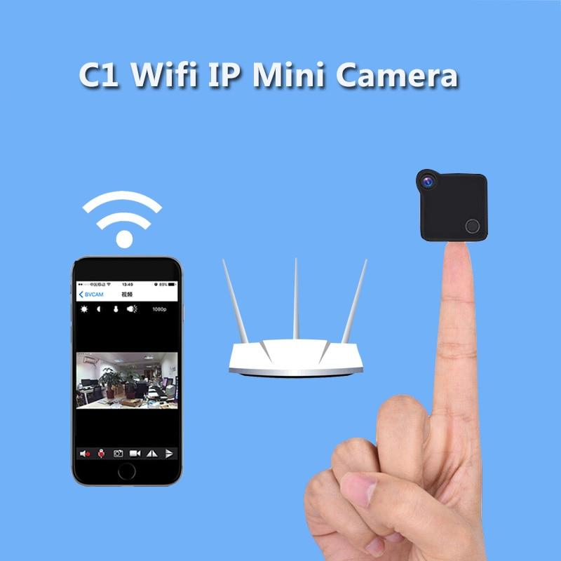 C1 Mini Wifi Camera IP Cam Wearable 720P HD H.264 Body Camera Wireless Motion Detection Mini DV Camera Magnetic Bike Camera