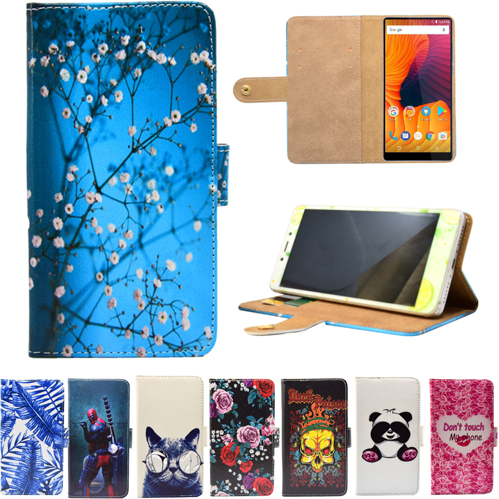 PU Leather Phone Case for Vernee Mix 2 Cartoon Cases Flip Wallet Stand Cover for Vernee Mix 2