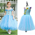 Blue&White Cinderella inspired Flower Girl Tutu Dress Fluffy Kids Girl Dancing Party Dress Princess Girl Birthday Photo Props