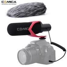 Comica V30 PRO Video mikrofon yönlü kondenser röportaj kayıt Mic Canon Nikon Sony DSLR kamera (Windmuff)