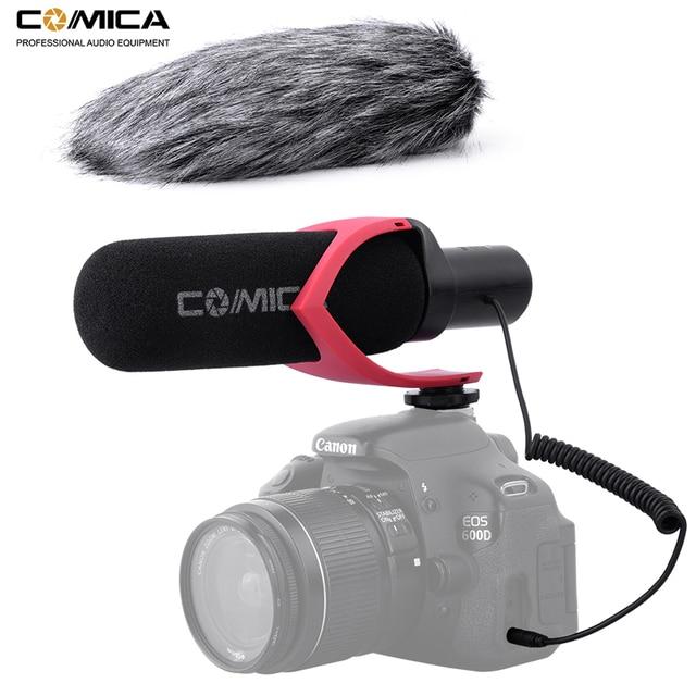 Направленный конденсаторный микрофон Comica V30 PRO для записи интервью, микрофон для цифровой зеркальной камеры Canon, Nikon, Sony (с защитой от ветра)