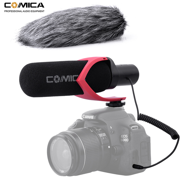 Comica V30 Pro Video Microfoon Directionele Condensator Interview Opname Microfoon Voor Canon Nikon Sony Dslr Camera (Met Windmuff)