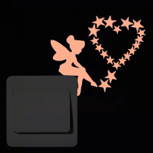 New Moon Fairy Cartoon Luminous Switch Sticker Glow in the Dark star cat wall sticker decoration stickers home decor living room max mara свитер