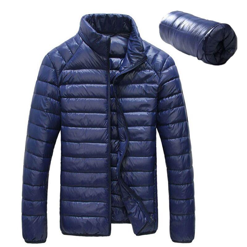 Winter Men Jackets Solid Breathable Hot Sale Duck Down park men Jacket Mens Coat Lightweiht Plus Size XXXL jaqueta masculina