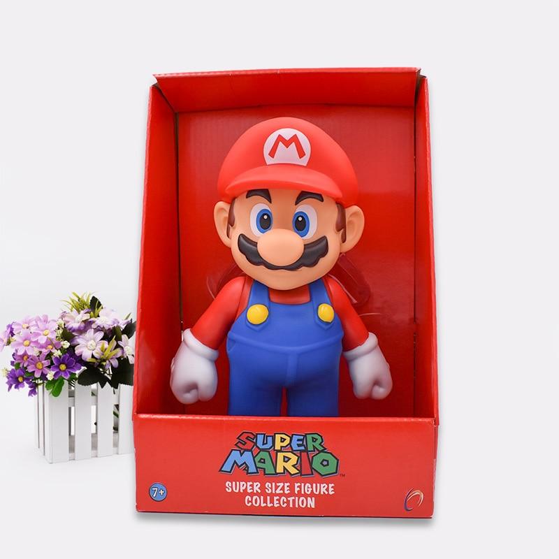 Free Shipping Super Mario Bros Mario PVC Action Figure Collection Toy Doll 9