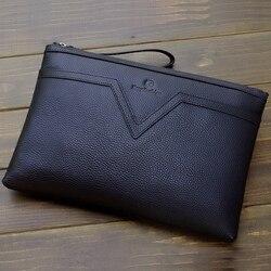 Высококачественная Мужская сумка из натуральной кожи для документов, портфель из натуральной кожи для документов, папка для документов с р...