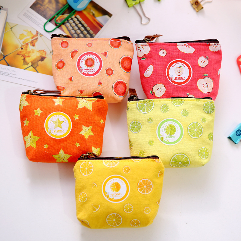 Women Girls Lovely Cute Fruit Mini Coin Purses Wallet Portable Cute Cartoon Apple Orange Design Small Coin Bag Purse Kids Gift sturm 1045 20 s105