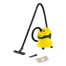 Пылесос для сухой и влажной уборки KARCHER WD 2 *EU-I (Мощность 1000 Вт, вместимость пылесборника 12 л, крепление насадок на корпусе, поворачивающиеся колеса)