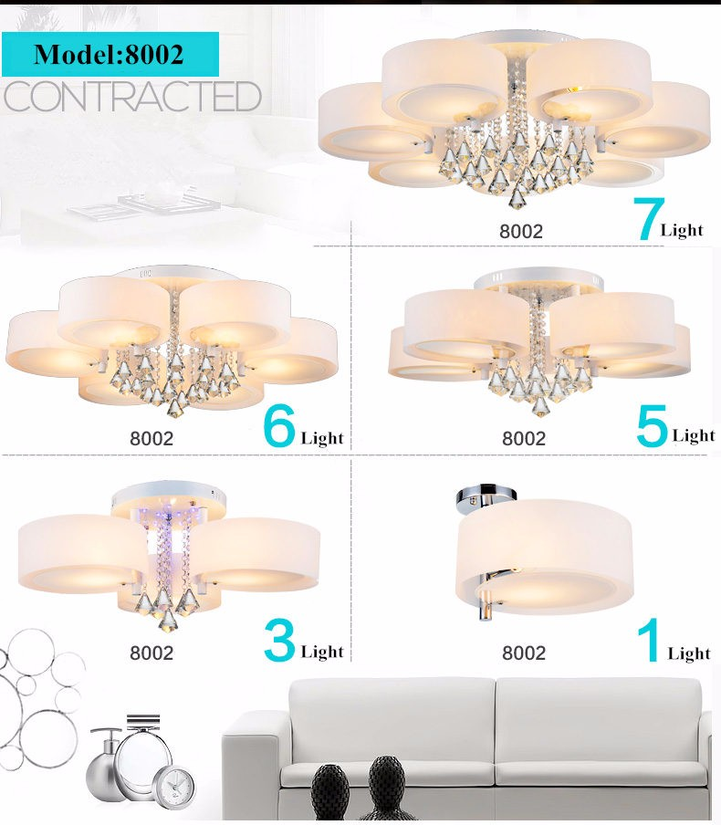 crystal led ceiling light