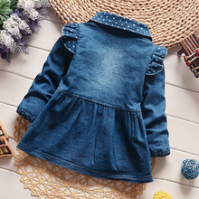 Girls Dresses Jeans Blue Dress For Little Girl Spring 2018 Brand Spring Cotton Long sleeves Clothing Kids Children Clothes
