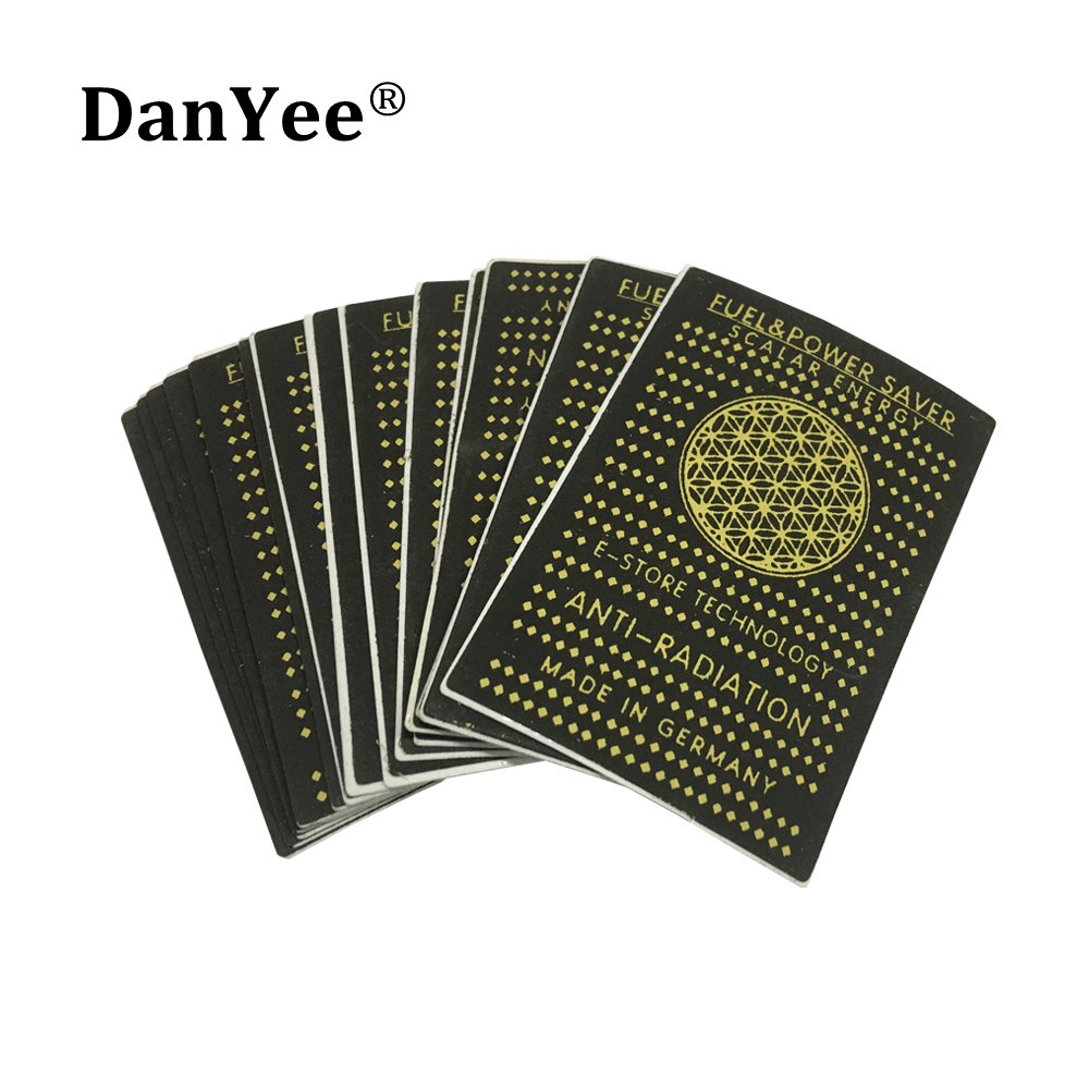 50pcs Fuel Saver Sticker Anti Radiation Stickers 3500CC Energy Shield For Mobile Phone Sticker Health