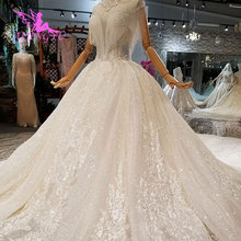 AIJINGYU Lace Wedding Dresses 2019 Illusion Luxury Gowns