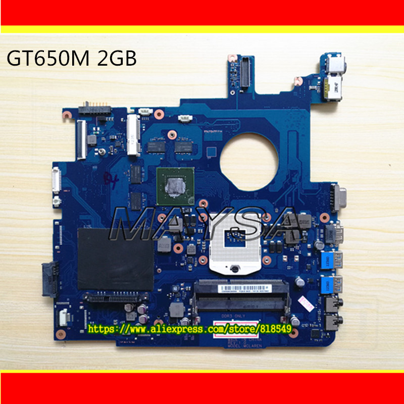 BA41 01898A BA41 01900A Laptop Motherboard Fit For Samsung NP550 NP550P5C DDR3 GeForce GT650M BA92 09094A