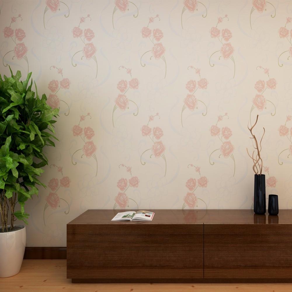 Pink Rose Floral Wallpaper Bedroom Wallpaper Kids Room Wallpaper
