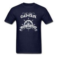 해적 티셔츠 남자 나는 선장 나는 선박 일어나는 티셔츠 드롭 배송 맞춤 디자인 남성 의류 네이비 블루 탑