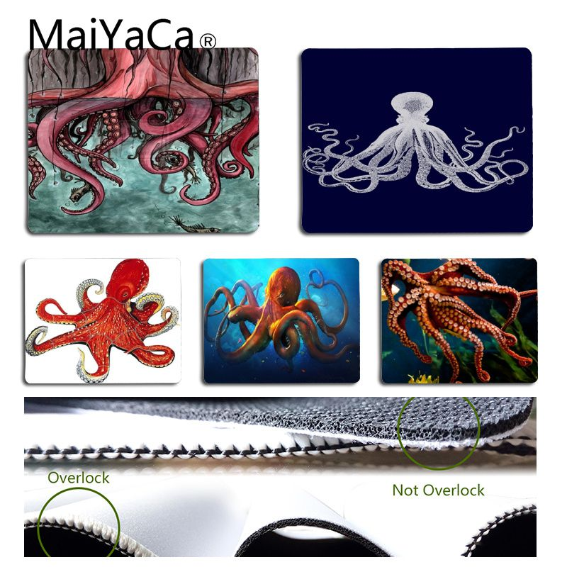 MaiYaCa Marine Life Octopus Gamer Speed Mice Retail Small Rubber Mousepad Natural Rubber Gaming Mousepad Desk Mat
