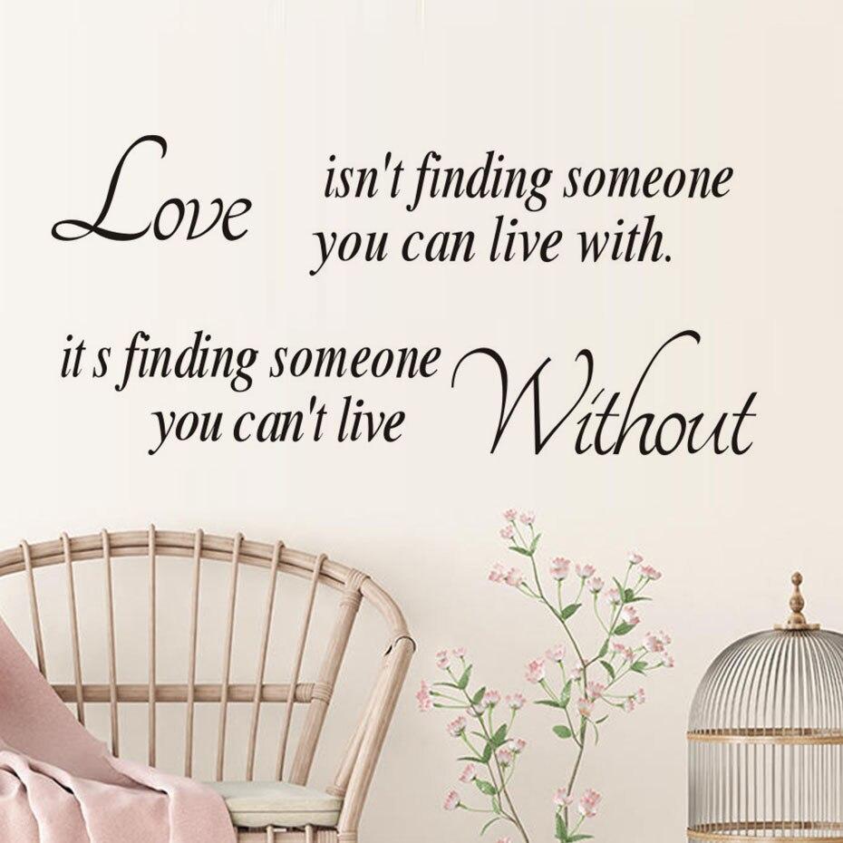 Miłość Isnt Znalezienie Kogoś Można żyć Z Naklejki ścienne Wesele
