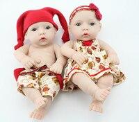 28CM NPK Collection 11'' Princess Girl Doll Mini Reborn Babies Full Silicone Vinyl Newborn Dolls With Clothes Kids Birthday Gift