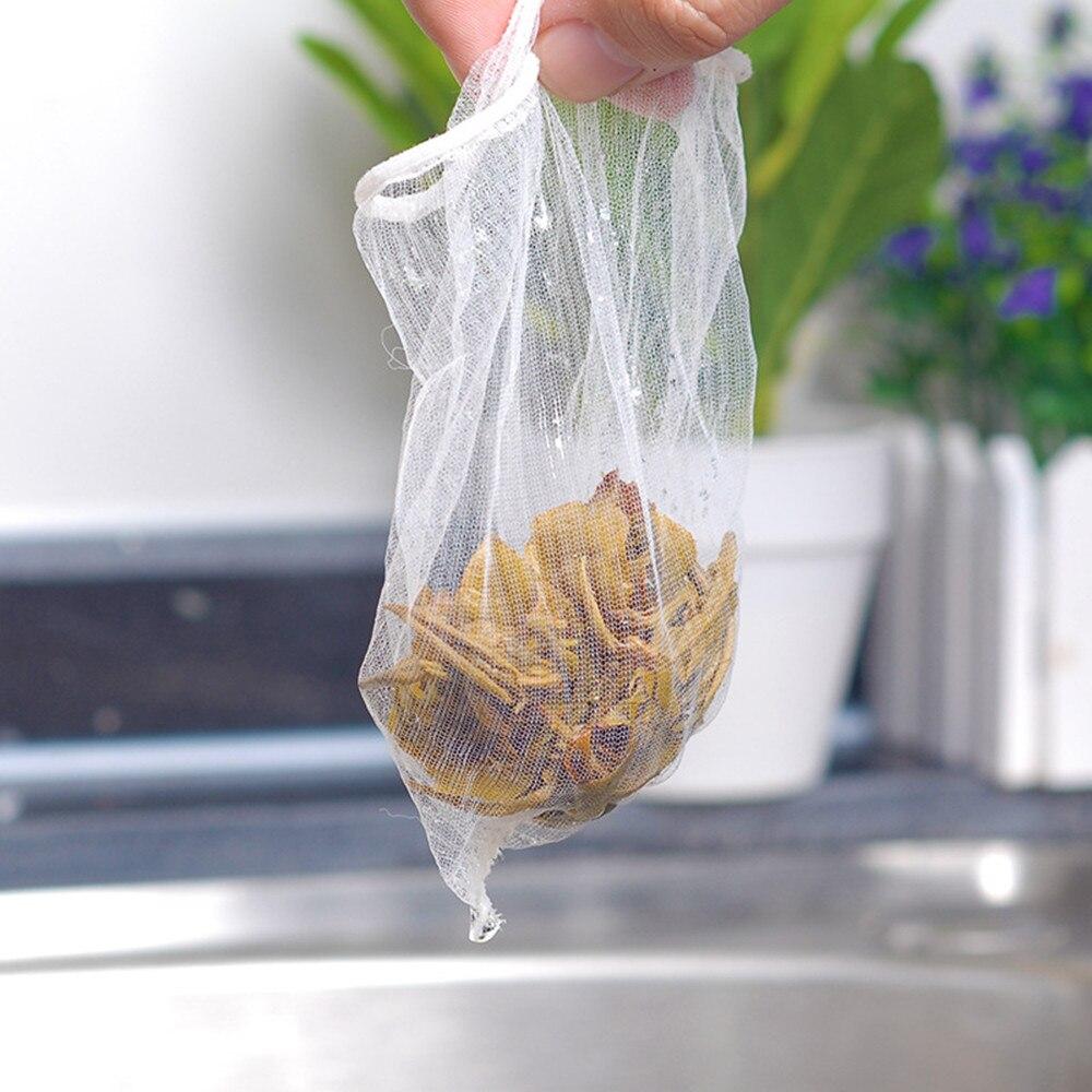 50PC Kitchen Accessories Practical Food Nut Milk Tea Fruit Juice Coffee Wine Nylon Mesh Net Strain Herb Liquid Filter Bag Sink