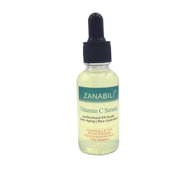 ZANABILI 30% VITAMIN C + E 100% HYALURONIC ACID RETINOL Facial Serum Skin Care Anti-Aging Moisturizing Ageless Beauty Face Cream
