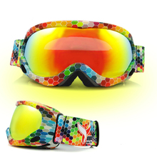 New ski goggles UV400 single ski mask glasses skiing men women snow snowboard goggles Anti fogging