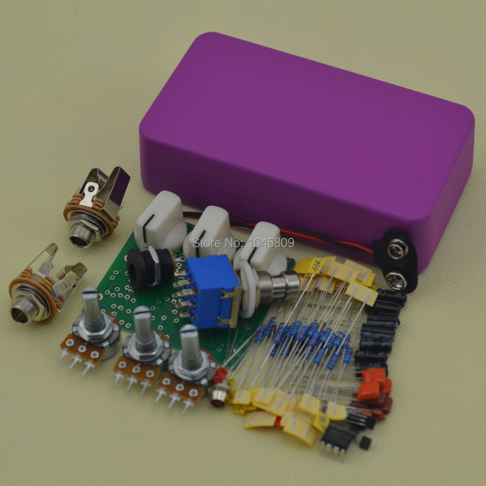 DIY Overdrive pedal Kits Guitar Effect Pedals Electric Effects Light Flashing Purple Suite OD3 Electric guitar effects pedals aroma adr 3 dumbler amp simulator guitar effect pedal mini single pedals with true bypass aluminium alloy guitar accessories