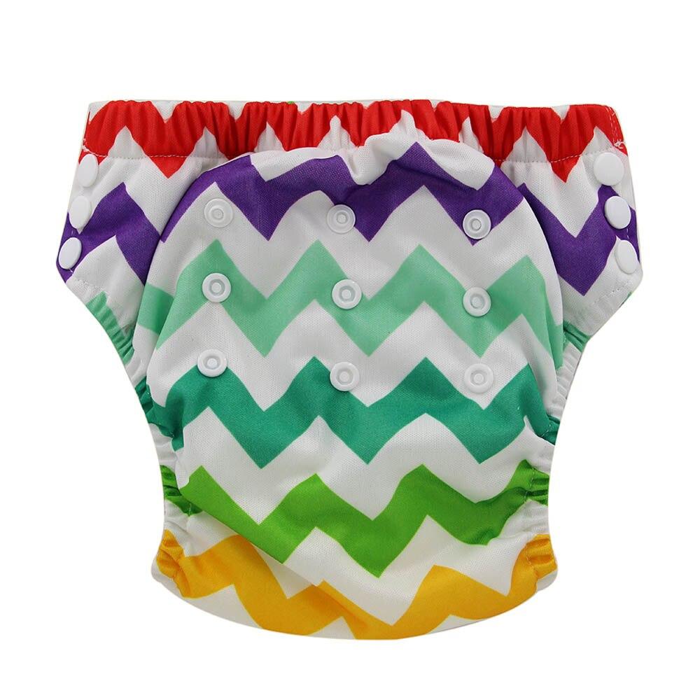 Ohbabyka Waterproof Training Pants Baby Cloth Diaper Nappy Reusable Diaper Cover Learning Pants Animal Print Potty Underwear