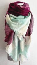 za major Winter 2016 Tartan Scarf blanket Plaid Scarf cuadros New Designer Unisex Acrylic Basic Shawls