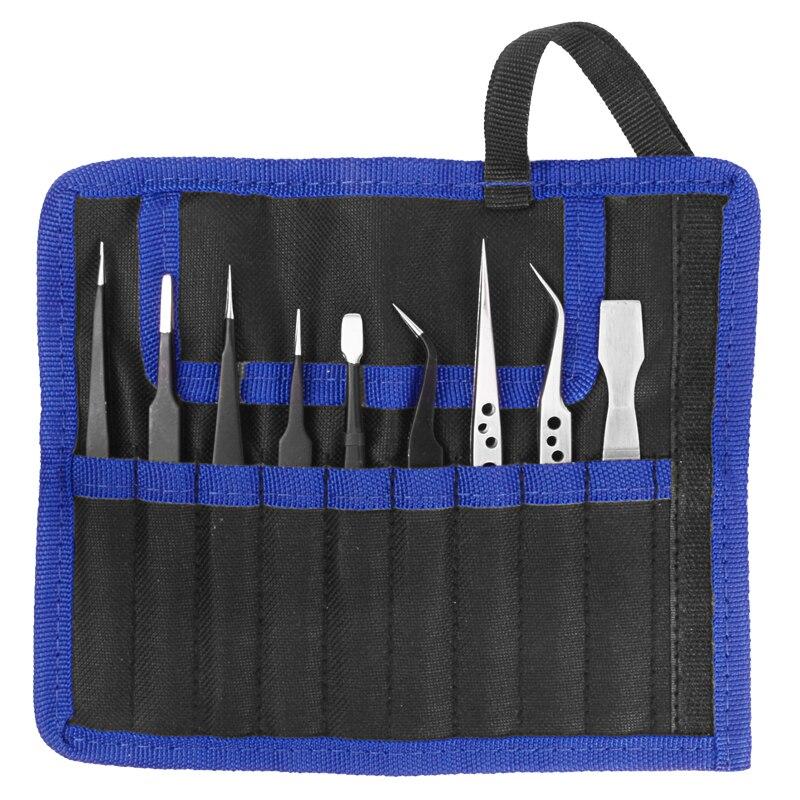 Best DealEsd-Tweezers-Set 9pcs/Lot Welding-Assist-Kit Mobile-Phone-Repair-Tools Anti-Static Stainless-Steelÿ