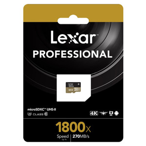 Image 4 - Lexar 1800X Memory card 32GB 64GB Professional Micro SD Card Class10 UHS II U3 SDHC SDXC 270MB/s TF Card