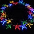 30 de estrellas de Mar Luz de La Secuencia Solar Fiesta de Navidad de Vacaciones Decoración de La Boda Luces de Hadas de Luz Multicolor de Luces Solares
