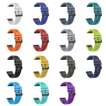 20mm Silicone Watch Band For Garmin Fenix 5S Sports Smart Tabby Belt With Black Buckle