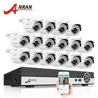 ANRAN 16CH AHD Security System 1080N HDMI DVR Kit 720P 1800TVL IR Outdoor Camera Home CCTV