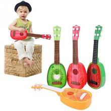 Newest Super Cute Children 4 String Fruit Style Guitar Ukulele Musical Instrument Kids Christmas Gift Toy(China)