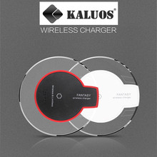 KALUOS Qi Wireless Charger For Samsung Galaxy S6 Edge+ Note5 Google Nexus4/5/6 Moto 360 HTC 8X Crystal Wireless Charging Pad