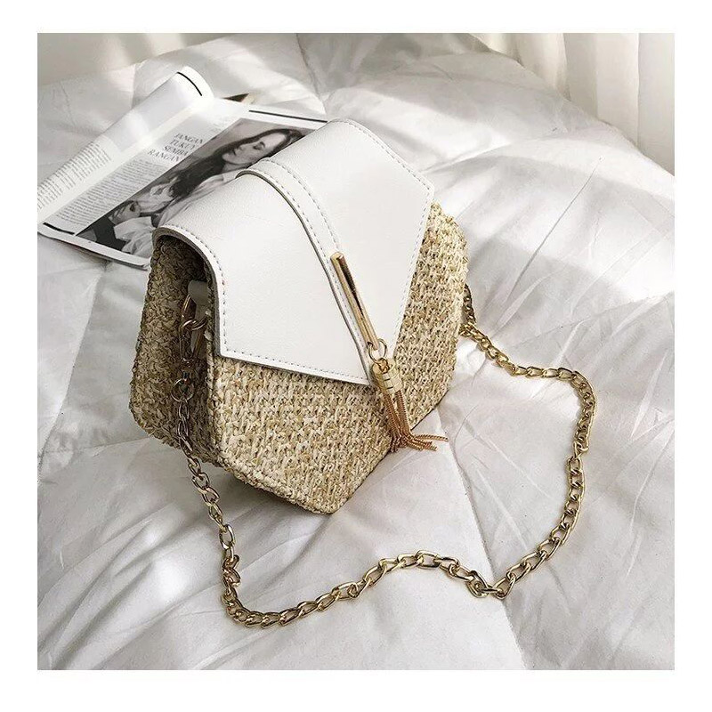 Single-shoulder Fringed Bag for Girls Straw Leather Handbag Women Handmade Woven Beach Circle New Fashion Lady's Leisure Bags(China)
