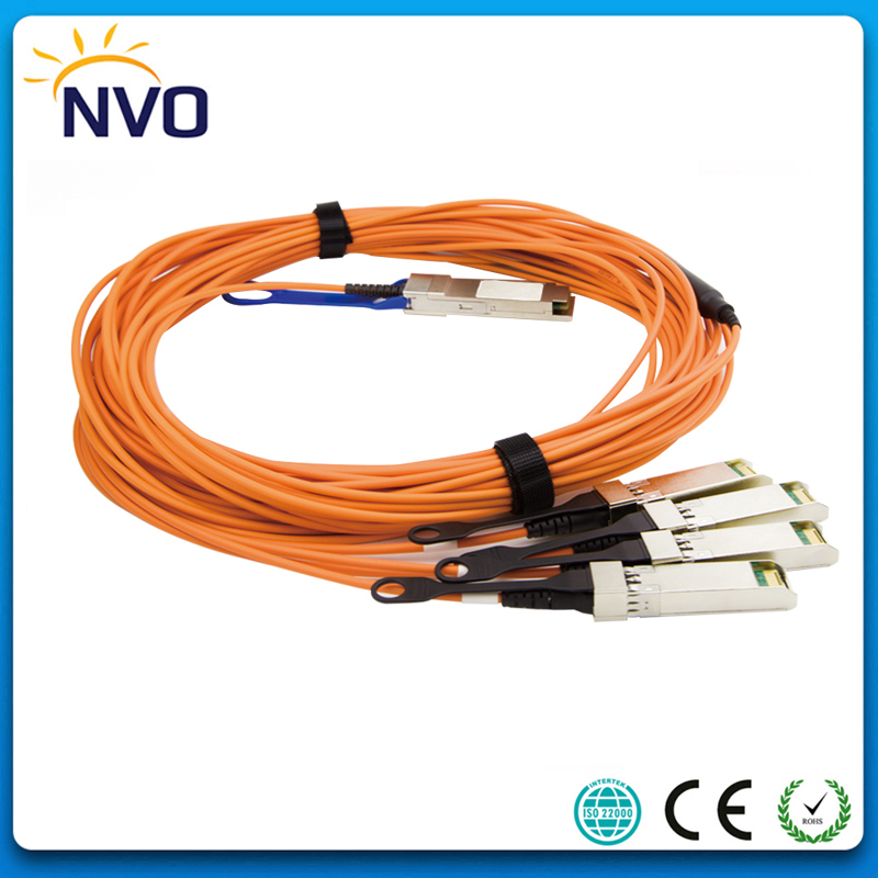 40G QSFP+ to 4*SFP+ 5M(9ft) OM2 Active Optical Cable,40G QSFP+ to 4x10G SFP+ Breakout Active Optical Cable
