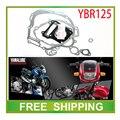 YBR YBR125 125cc двигатель прокладка бумаги прокладка головки блока цилиндров полный набор мотоцикл аксессуары бесплатная доставка